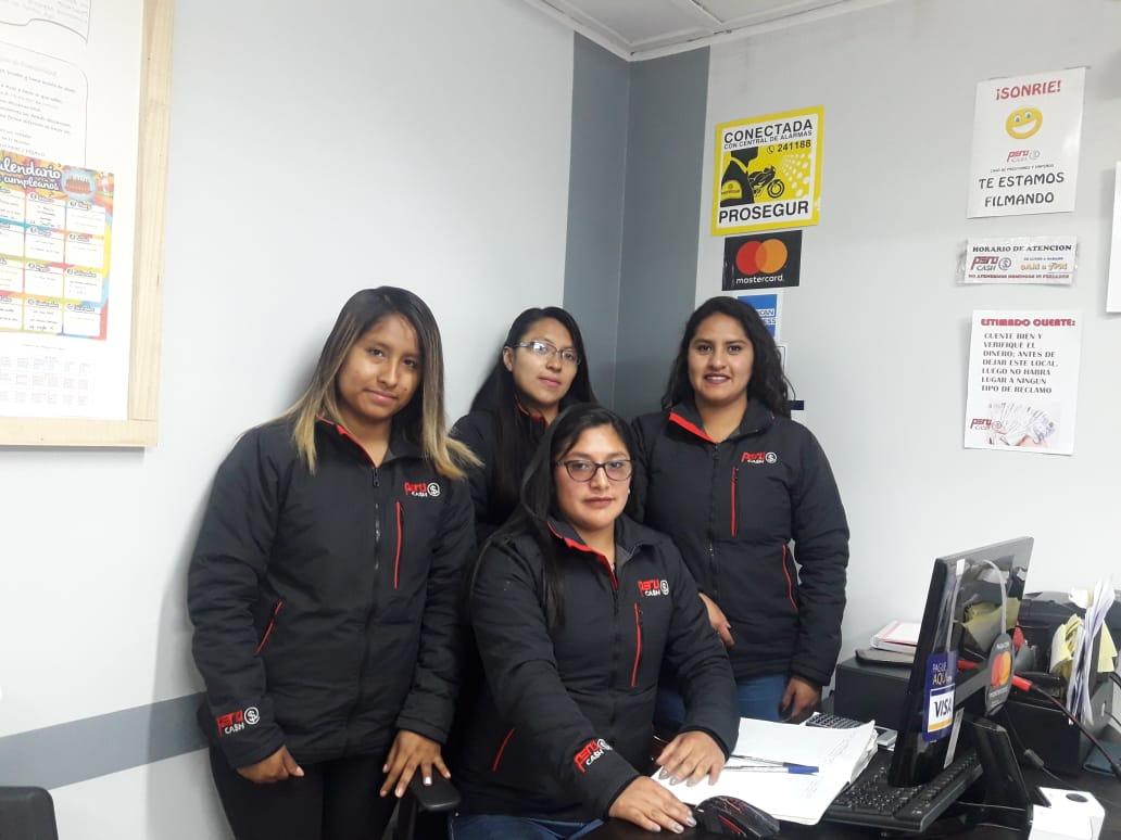 Especialistas en atencion al cliente Perucash Huancayo